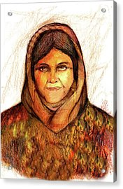 Grandmother Noora Acrylic Print