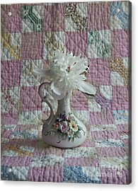 Grandmother's Vase And Her Son's Quilt Acrylic Print