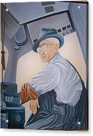Grandpa Albee Acrylic Print by Tammera Malicki-Wong