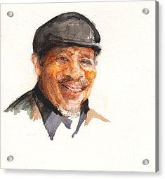 Acrylic Print featuring the painting Grandpa John Perkins by Nancy Watson
