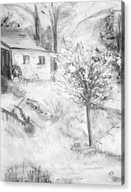 Grandpa's Backyard Iv Acrylic Print by Helena Bebirian