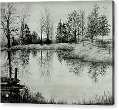 Grandpa's Pond Acrylic Print