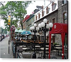 Acrylic Print featuring the photograph Grande Allee Est by John Schneider