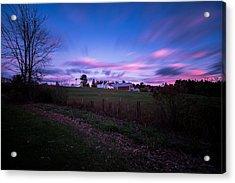 Grandview Farm Sunset Acrylic Print
