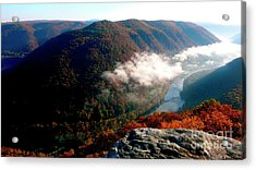 Grandview New River Gorge Acrylic Print by Thomas R Fletcher