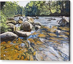 Granite Boulders East Okement River Acrylic Print