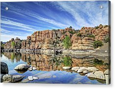 Granite Dells At Watson Lake Acrylic Print by Donna Kennedy