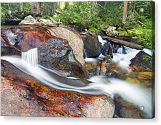 Acrylic Print featuring the photograph Granite Falls by Gary Lengyel