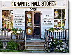 Acrylic Print featuring the photograph Granite Hall Store  by Susan Cole Kelly