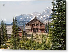 Acrylic Print featuring the photograph Granite Park Chalet And Heaven's Peak 3 by Katie LaSalle-Lowery