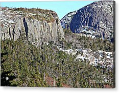Granite Rock Cliffs Acrylic Print by Barbara Griffin