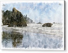 Granite Stacks Olympic Park Acrylic Print by Peter J Sucy