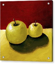Acrylic Print featuring the painting Granny Smith Apples by Michelle Calkins