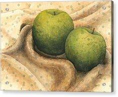 Granny Smith Apples Acrylic Print by Sandy Clift