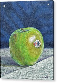 Acrylic Print featuring the painting Granny Smith by Robert Decker
