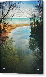 Grant Park - Lake Michigan Shoreline Acrylic Print by Jennifer Rondinelli Reilly - Fine Art Photography