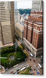 Grant Street As Seen From Usx Tower Pittsburgh Pa Acrylic Print