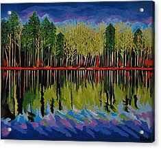 Acrylic Print featuring the painting Grant's Lake Reflections by Kathleen Sartoris