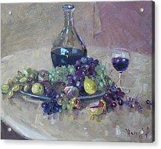 Grape And Wine Acrylic Print by Ylli Haruni