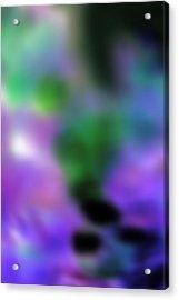Grape Blur Acrylic Print by Carolyn Stagger Cokley