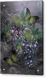 Grape Clusters Acrylic Print