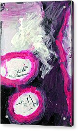 Grape Fizzies Acrylic Print by Shelley Graham Turner
