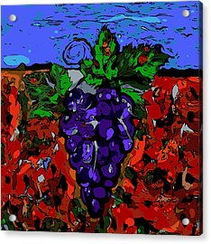 Grape Jazz Digital Acrylic Print