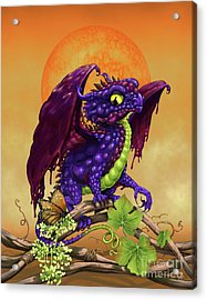 Acrylic Print featuring the digital art Grape Jelly Dragon by Stanley Morrison