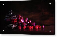 Grape Raspberry Acrylic Print by Tom Mc Nemar