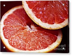 Grapefruit Halves Acrylic Print by Ray Laskowitz - Printscapes