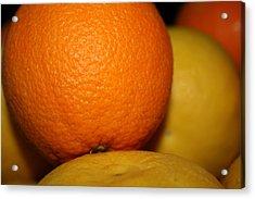 Grapefruit Orange Acrylic Print by Joshua Sunday