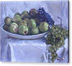 Grapes And Figs At Lida's Acrylic Print
