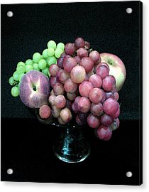 Grapes And Fruit Acrylic Print by Sandi OReilly