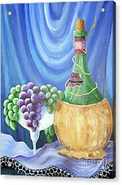 Grapes And Lace Acrylic Print by Janna Columbus