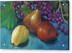 Grapes And Pears 2 Pastel Acrylic Print by Antonia Citrino