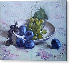 Grapes And Plums Acrylic Print