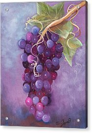 Grapes Acrylic Print by Joni McPherson