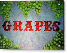 Grapes Acrylic Print by Lisa Stanley