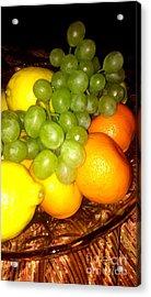 Grapes, Mandarins, Lemons Acrylic Print