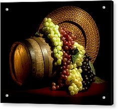 Grapes Of Wine Acrylic Print by Tom Mc Nemar