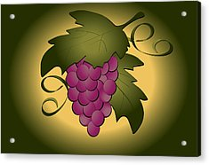 Grapes Acrylic Print by Pam Beal
