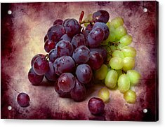 Acrylic Print featuring the photograph Grapes Red And Green by Alexander Senin