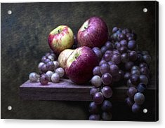 Grapes With Apples Acrylic Print by Tom Mc Nemar