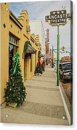 Grapevine Texas At Christmas Acrylic Print by Allen Sheffield