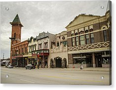 Grapevine Texas Downtown Acrylic Print by Allen Sheffield