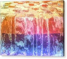 Graphic Rainbow Waterfall Acrylic Print