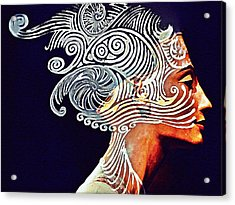 Graphism For Nefertiti Acrylic Print by Paulo Zerbato