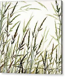 Acrylic Print featuring the painting Grass Design by James Williamson