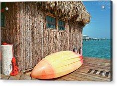Grass Hut On Ambergris Caye Belize Acrylic Print