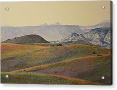 Grasslands Badlands Panel 2 Acrylic Print